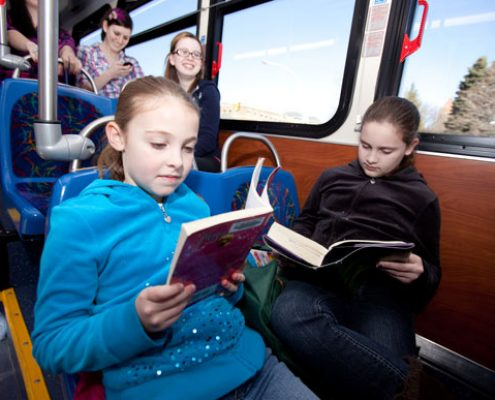 Children Riding the Bus