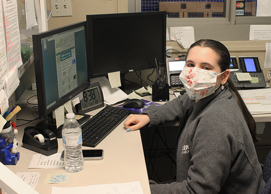 Our Customer Service Representatives stay safe wearing masks