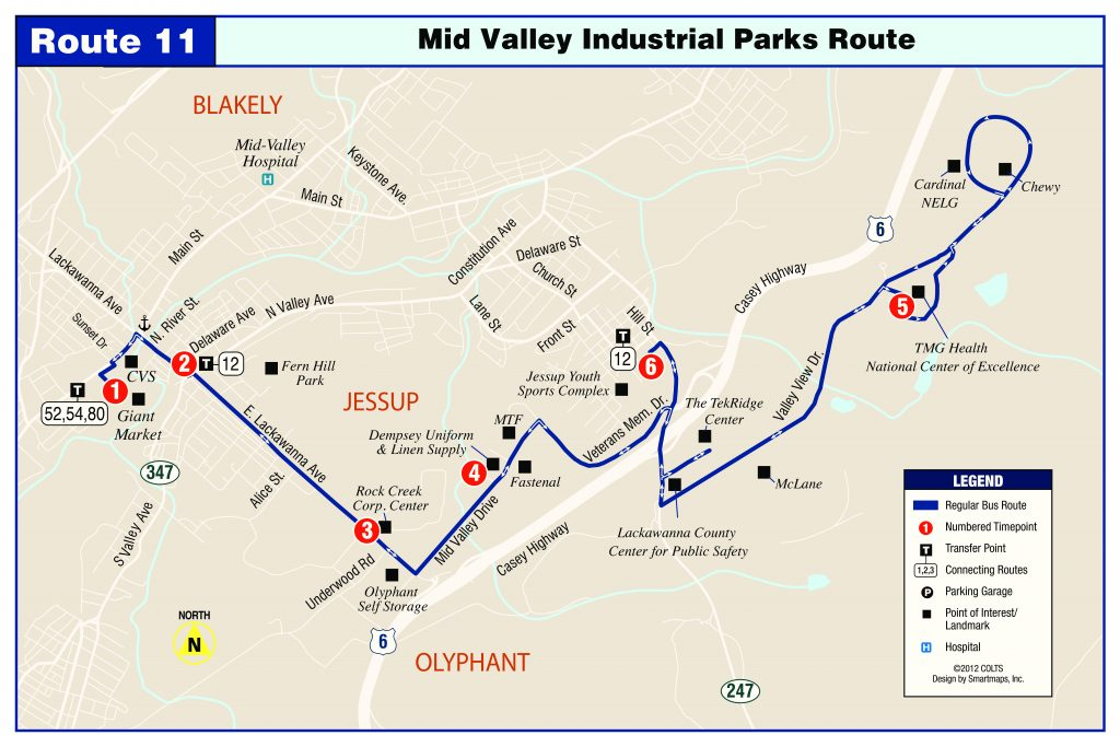 Mid Valley Industrial Park Route 11