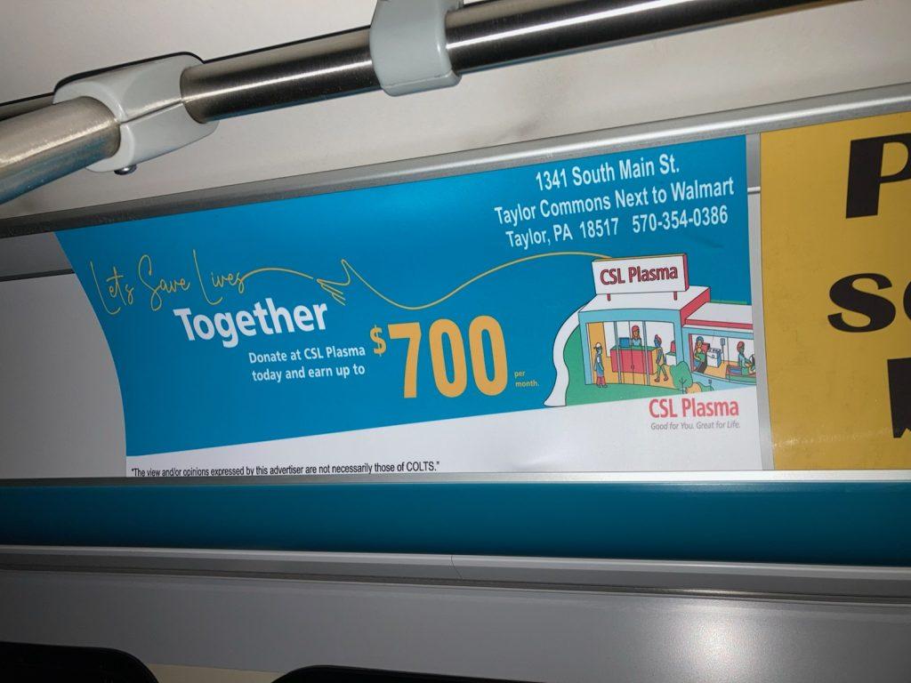 Interior Bus Ad