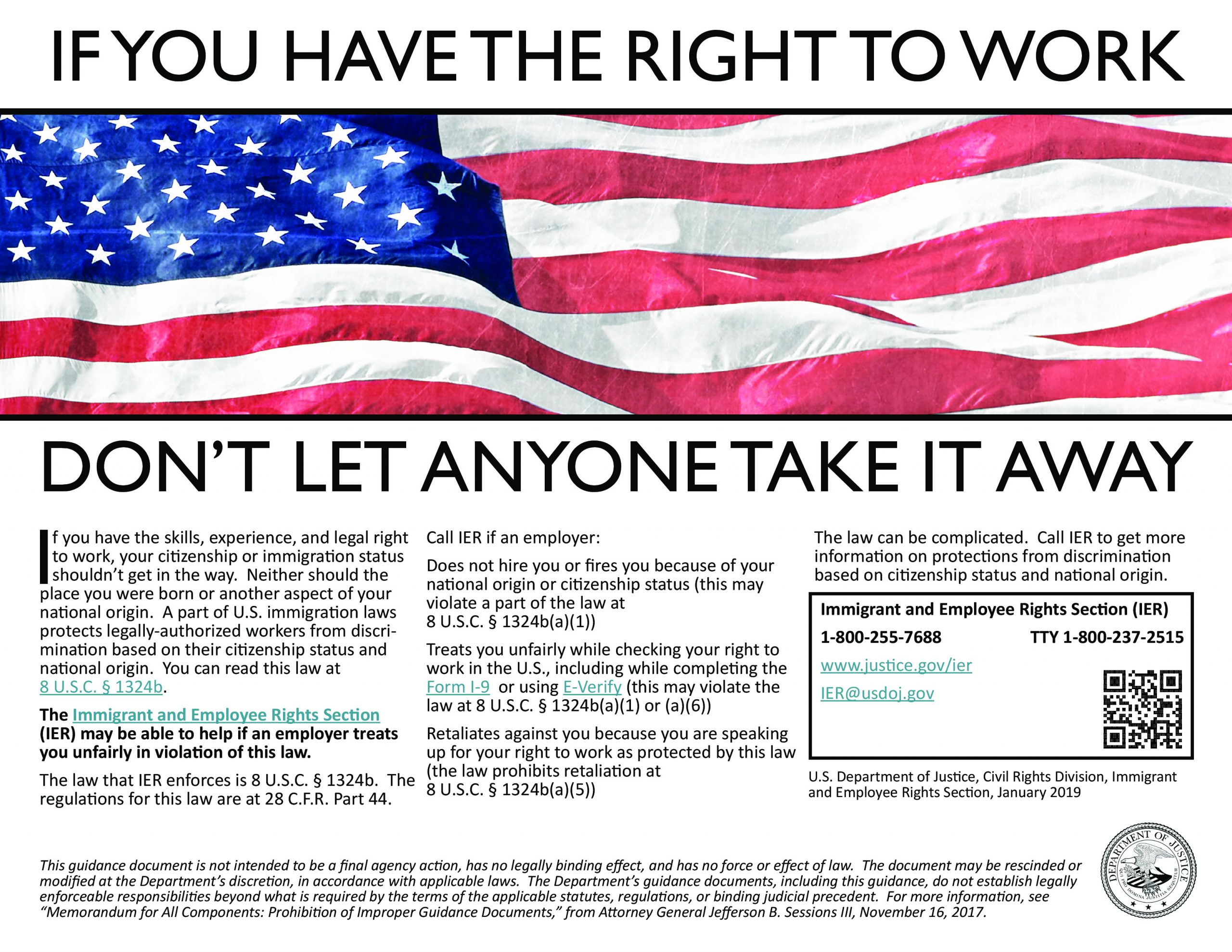 If you have the right to work don't let anyone take it away