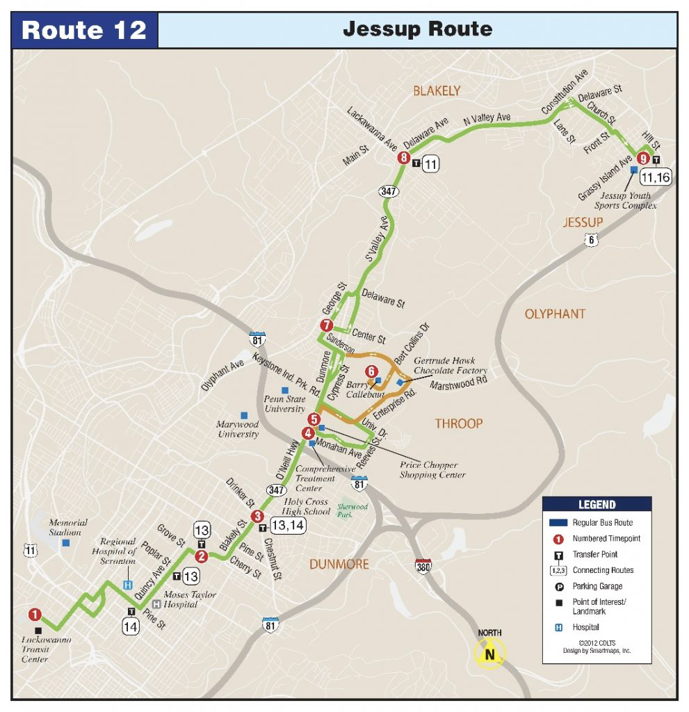 Route 12 Jessup to Keystone Industrial Park